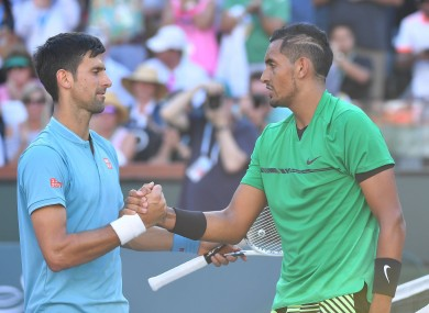 Kyrgios has waged a running battle with Djokovic in recent months (file photo).