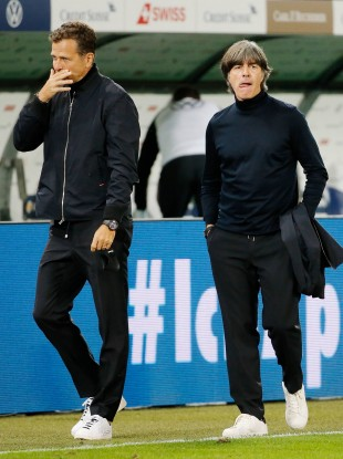 Oliver Bierhoff (left) pictured with Joachim Loew.