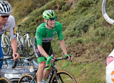 Sam Bennett is still at the top of the Green jersey points race.