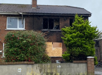 The house which caught fire last month.