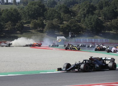 An image of the crash.