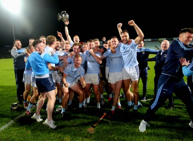 Na Piarsaigh celebrate their Limerick senior hurling final win.