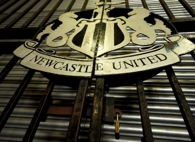 A general view of the club badge at St James' Park.