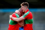 Ballymun Kickhams' brothers Paddy and John Small are overcome with emotion after the game.