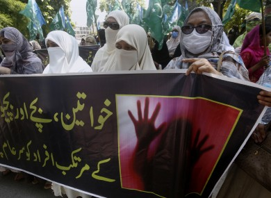Women in Lahore condemn the gang rape of a woman in the city