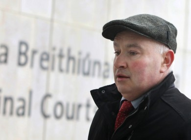 File photo. Quirke arriving at the Criminal Courts of Justice last year.