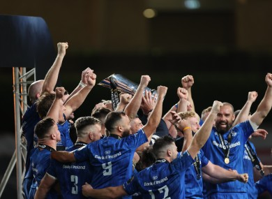 Leinster are reigning Pro14 champions.