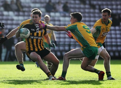 Eoin Finnerty impressed for Mountbellew-Moylough against Corofin today (file photo).