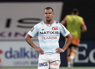 Kurtley Beale pictured during Racing 92's game against Montpellier last weekend.