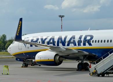 File image of Ryanair flight.