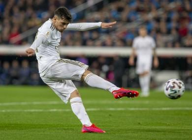 Real Madrid CF's Brahim Diaz  (file pic).