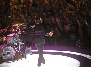 U2 perform in the 3Arena in 2018.