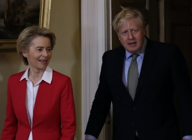 Prime Minister Boris Johnson and EU Commission president Ursula von der Leyen