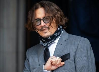 Johnny Depp outside court (file photo).