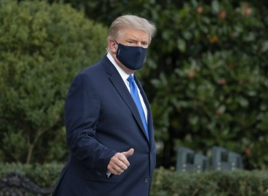 Trump was taken to hospital on Friday.
