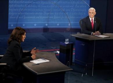 Kamala Harris debating Mike Pence last night.