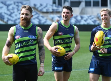 Zach Tuohy (left) and Mark O'Connor (middle) play in tomorrow's Grand Final.