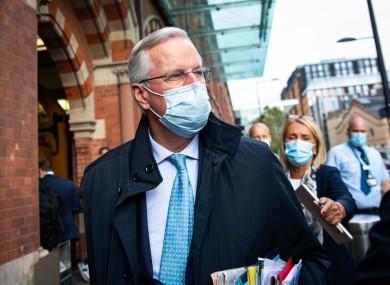 EU's chief negotiator Michel Barnier in London