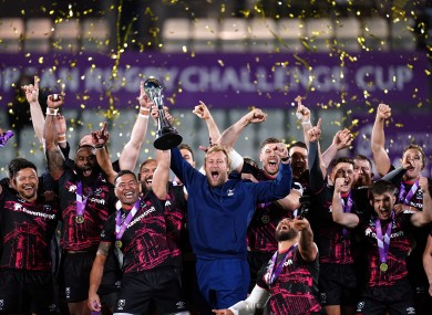 Bristol lift the Challenge Cup.