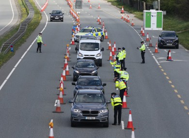 As part of new nationwide Level 3 restrictions, garda checkpoints will be in place across the country