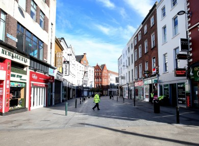 A near empty Dublin city during the early days of lockdown
