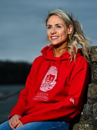 Cork's Orla Finn launching the Ganzee GAA Official Lifestyle Collection.