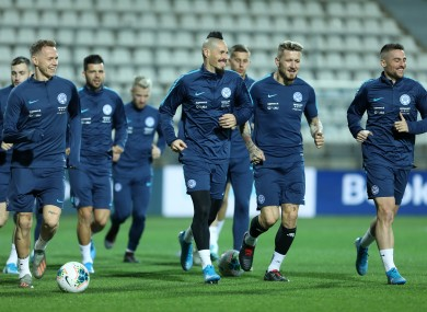 The Slovakia team in training (file pic).