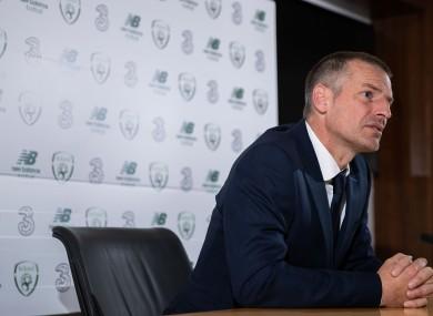 Irish U21s manager Jim Crawford.