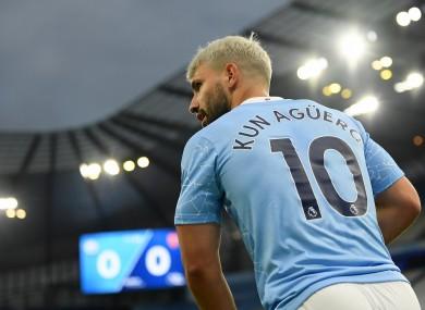 Manchester City's Sergio Aguero.