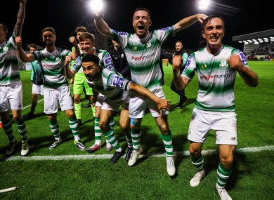 Shamrock Rovers players (file photo) can celebrate after landing the league title.