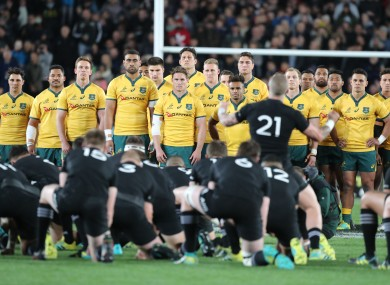 The Wallabies and the All Blacks will clash on 31 October.