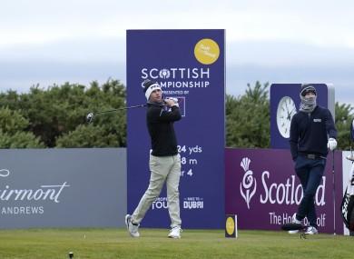 Jonathan Caldwell at the Scottish Championship.