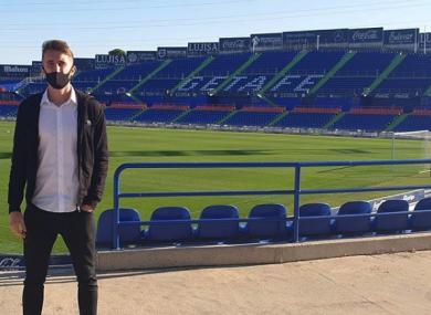 Ryan Nolan pictured at Estadio Coliseum Alfonso Pérez, the home ground of Getafe.