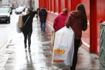 Shoppers in Dublin last week before the Level 5 restrictions came into force