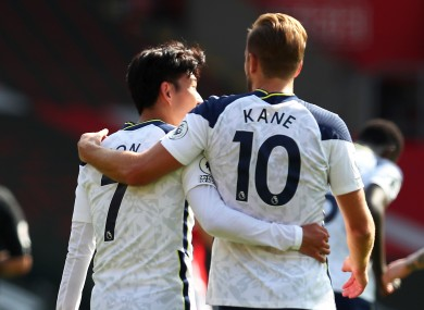 Tottenham Hotspur's Harry Kane (right) and Son Heung-min have begun the season in fine form.