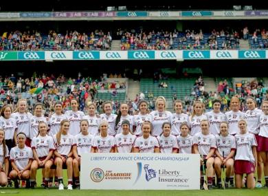 The Galway intermediate camogie team before last year's All-Ireland final against Westmeath.