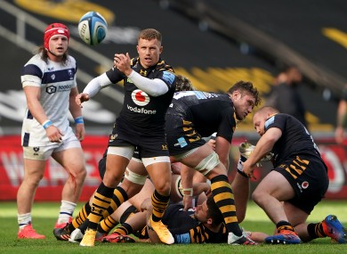 Wasps' Ben Vellacott helped his side reach the Premiership final.