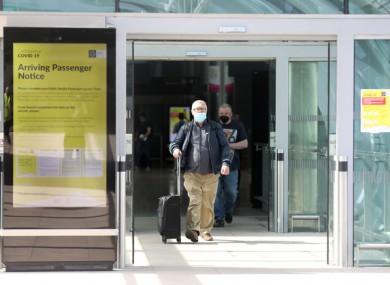 Passengers landing at Dublin Airport.