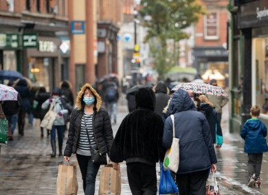 File ohoto. Shoppers in Nottingham