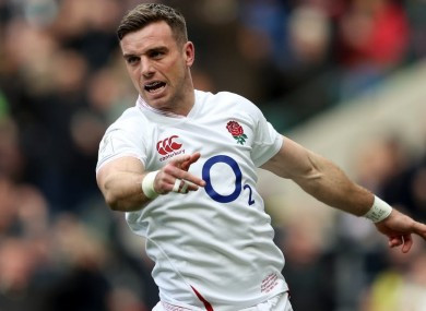 Fighting fit: George Ford.