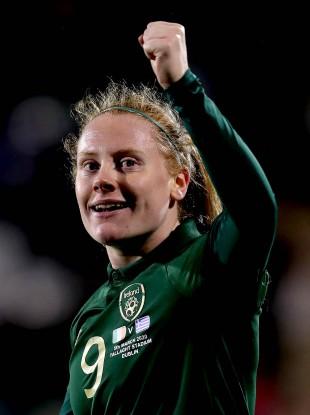 Ireland striker Amber Barrett is hoping for a monumental upset against Germany.