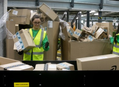 File image of An Post's automated parcel hub in Dublin last year.