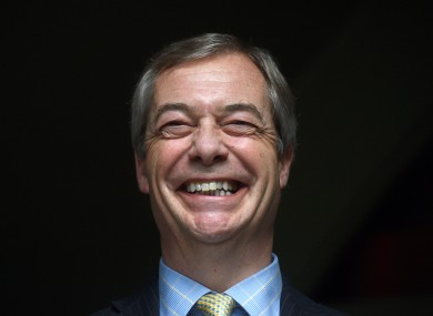 File photo. Nigel Farage.