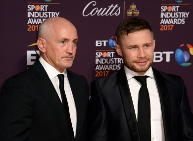 Barry McGuigan and Carl Frampton pictured in 2017.