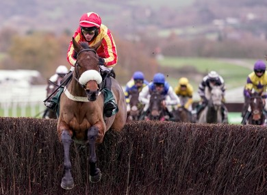 Coole Cody ridden by Tony O'Brien clears the last.