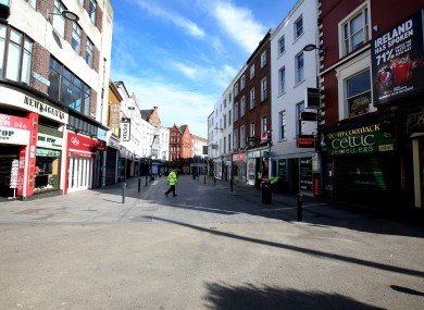 Grafton Street during Covid-19 restrictions in March