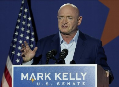 Mark Kelly speaking at an election night event on Tuesday.