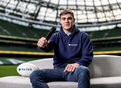 Garry Ringrose was launching Aviva's Ireland's Call competition.