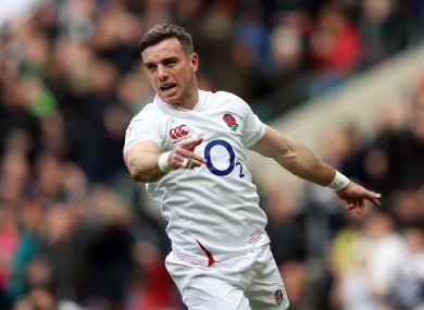 George Ford (file pic).
