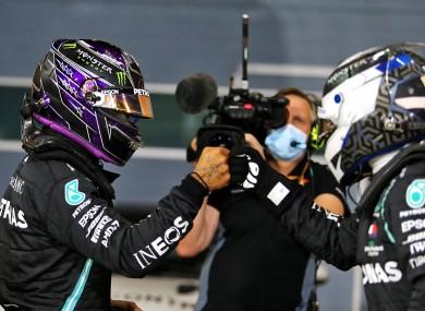 Lewis Hamilton at Bahrain today.